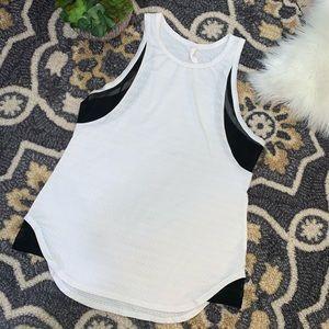 Lucy Activewear Black/White Racerback Tank